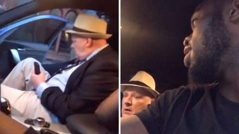 Hilarious 'drunk' Man Gets Into Random Car Thinking It's Uber Image
