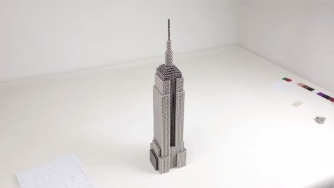 Magnetic Appeal: Magnet Aficionado Creates New York's Empire State Building Using Over 20,000 Balls Image