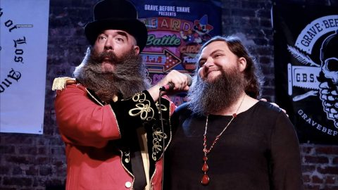 UN-BEARD-IEVABLE! BEARDED LADY WHO USED TO SHAVE IS EMBRACING HER FACIAL HAIR - BY BEATING BLOKES IN BEARD COMPETITIONS Image