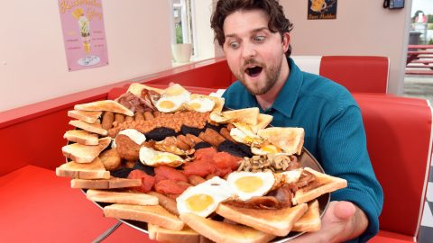 THE UK'S BIGGEST BREAKFAST – COULD YOU FINISH THIS 13,000 CALORIE BREAKFAST? Image