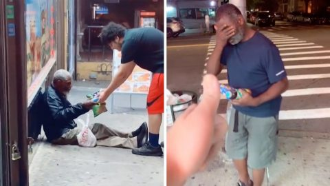 GENEROUS MAN HELPS HOMELESS BY BUYING THEM FOOD AT ANY OPPORTUNITY Image