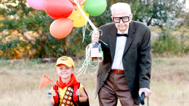 DOTING CANCER SURVIVOR RECREATES ADORABLE SCENES FROM 'UP' WITH SON AND GRANDPARENTS TO MARK LIVING TO SEE CHILD TURN FIVE Image