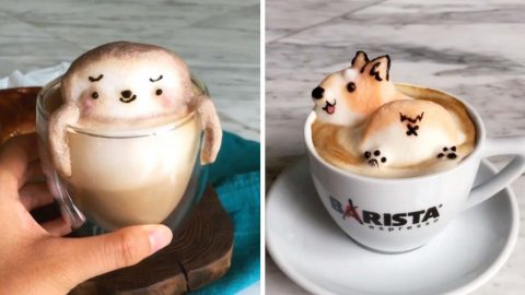 TALENTED STUDENT USES COFFEE FOAM TO CREATE ADORABLE 3D CHARACTERS Image