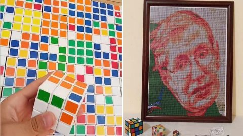 NOW THAT'S CUBISM: PROLIFIC ARTISTS CREATES AMAZING PORTRAITS USING RUBIK'S CUBES Image