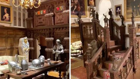 SIZE ISNT EVERYTHING! NATIONAL TRUST ENTHUSIAST SPENDS A LIFETIME BUILDING MODEL CASTLE - AND ITS NOT EVEN FINISHED YET Image