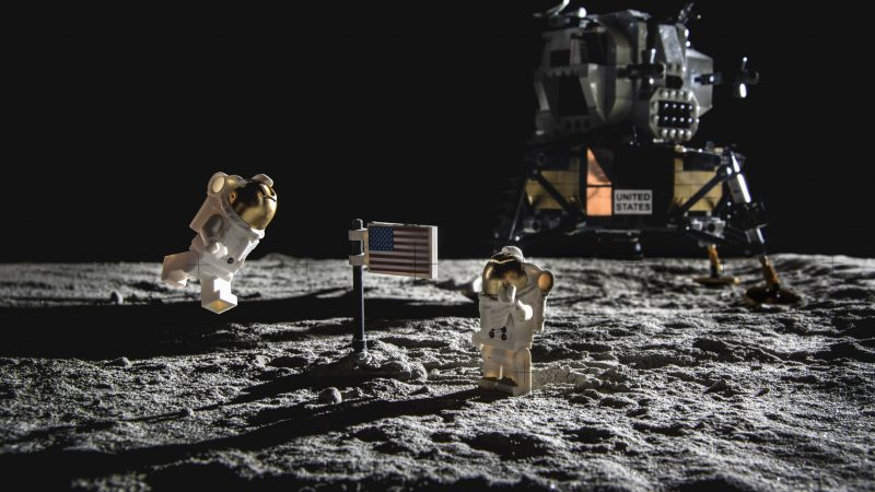 LEGO FANATIC BUILDS GIANT MODEL TO RECREATE THE MOON LANDING - AND IT LOOKS IDENTICAL Image