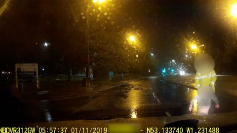 HIT AND DUMB! DRIVER LEFT IN SHOCK AS DASHCAM CAPTURES SCAMMERS BIZARRE 'ATTEMPT AT CRASH FOR CASH COMPENSATION' Image