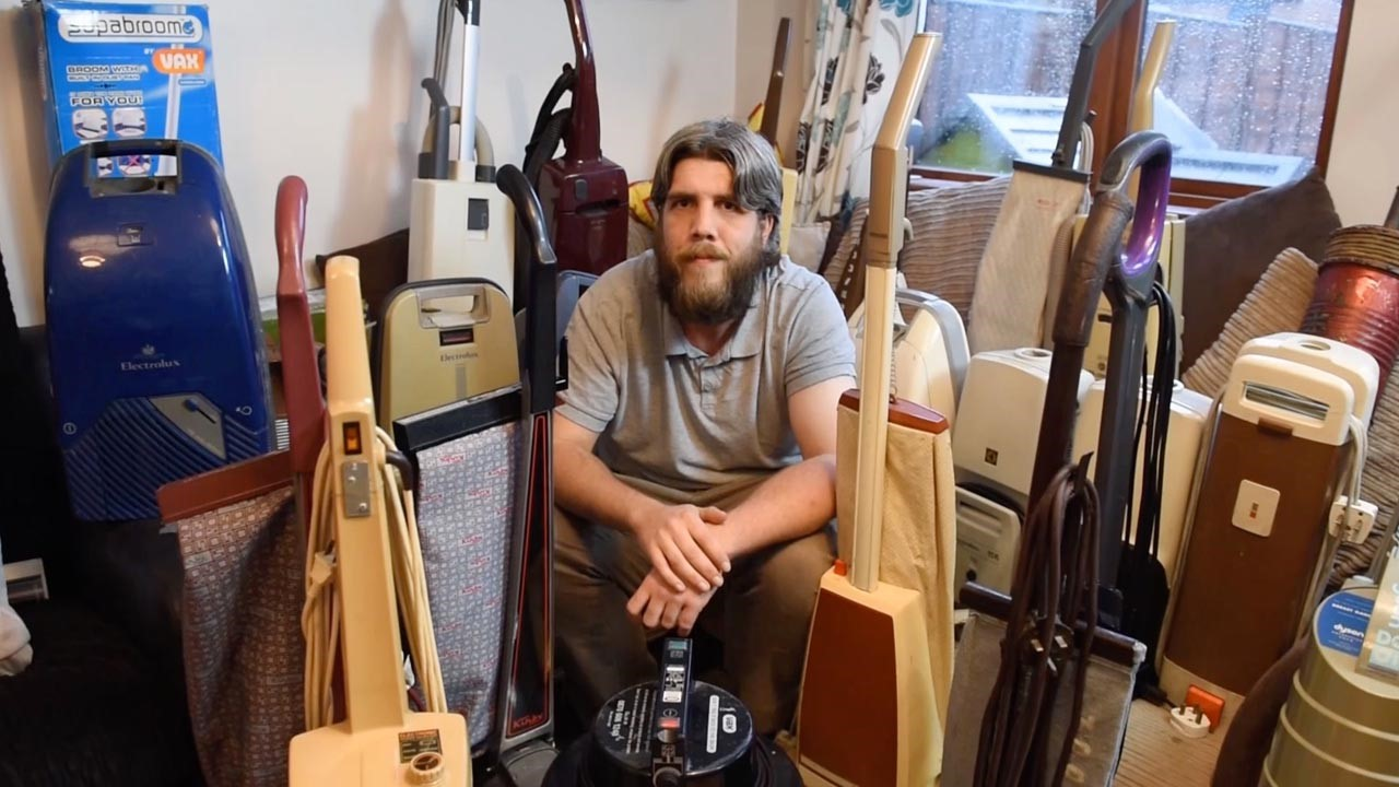 Man Has 100 Strong Collection Of Vacuum Cleaners In His