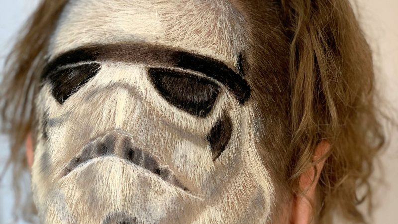 A WOOKIE ERROR - HAIRDRESSER STYLES MANE INTO STAR WARS STORMTROOPER Image