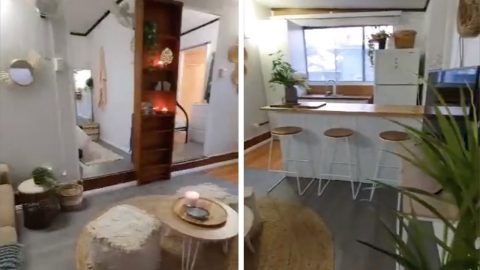 COUPLE TRANSFORM BLEAK AND BORING STATIC CARAVAN INTO GLAMOUROUS DREAM HOLIDAY HOME WITH FURNITURE FROM SECONDHAND SHOPS AND SKIPS – SAVING £1,600 Image