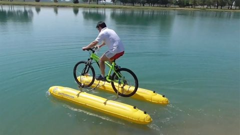 COMPANY CREATES DIY KITS TO ALLOW CYCLISTS RIDE ON WATER Image