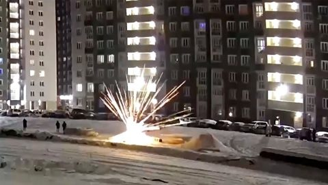 HORRIFYING MOMENT FIREWORK EXPLODES IN MANS HAND Image