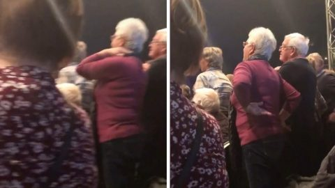 PANTOMIME PERFORMANCE TURNS INTO HILARITY AS ELDERLY AUDIENCE SING AND DANCE ALONG TO EXPLICIT SONG MY NECK, MY BACK Image