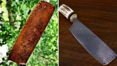AN AMAZING RUST-ORATION PROJECT! THIS ENGINEER TRANSFORMED A RUSTY BLADE INTO RAZOR SHARP CUTTING KNIFE Image