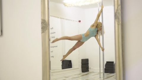 14-YEAR-OLD WHO HAS BEEN POLE DANCING SINCE SHE WAS 10 HITS BACK AT BULLIES WHO CALLED HER A 'STRIPPER' – AND NOW WANTS TO BREAK DOWN NEGATIVE STEREOTYPES Image