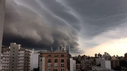 OMINOUS CLOUD LOOMS OVER ARGENTINIAN TOWN Image