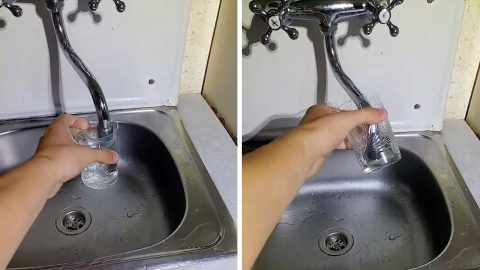 FAULTY FAUCET DRINKS IT IN: TAP WORKS IN REVERSE BY SUCKING WATER INTO THE PIPE RATHER THAN DISPENSING IT Image