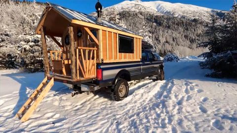 WHAT THE TRUCK – MAN TURNS TRUCK INTO HOUSE FOR 20K Image