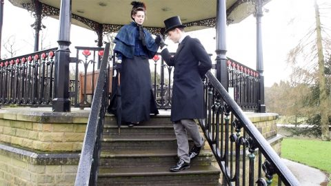 YOUNG VICTORIAN MAN CLAIMING TO BE ONE OF ENGLANDS MOST ELIGIBLE BACHELORS FINALLY MEETS WOMAN OF HIS DREAMS - AND SHE LOVES THE 1880S TOO Image