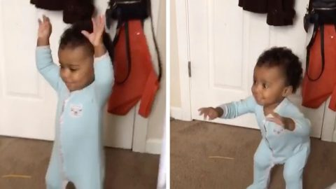 BABY DROPS TANTRUM IT LIKE IT'S HOT WHEN THEIR FAVOURITE HIP HOP SONG STARTS PLAYING Image