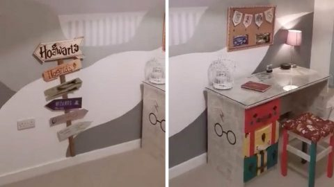 ARE YOU SIRIUS? MUM SURPRISES DAUGHTER WITH DIY HARRY POTTER BEDROOM Image