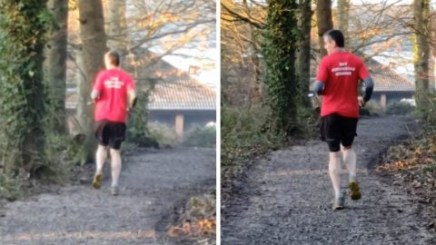 MARATHON DAD CLAIMS DOCTORS TOLD HIM TO RUN BACKWARDS TO CURE BIZARRE SYMPTOMS – BEFORE HE WAS EVENTUALLY DIAGNOSED WITH PARKINSON'S DISEASE Image