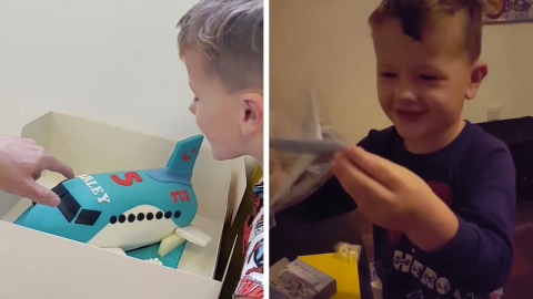 LITTLE BOY WHO WAS SCARED OF FLYING DEVELOPS HILARIOUS OBSESSION WITH TRAVEL COMPANY - AND EVEN HAD TUI-THEMED BIRTHDAY PARTY Image