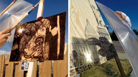 CLEVER ARTIST MAKES USE OF SUNLIGHT IN HIS WORK… BY LITERALLY USING SUNLIGHT TO CREATE MASTERPIECES Image