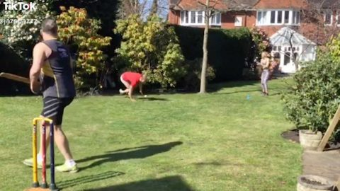 ISOLATION CRICKET GAME ENDS IN HILARIOUS FAIL Image