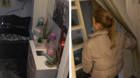 SMALL BUT MIGHTY! SAVVY STEPMUM TRANSFORMS TINY CLOSET INTO LUXURIOUS £488 BEDROOM FOR STEPDAUGHTER Image