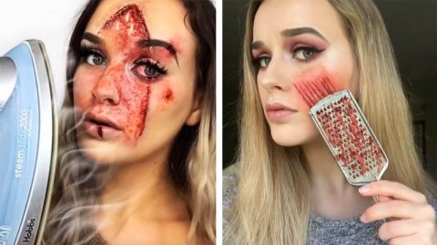 ILLUSIONIST MAKEUP ARTIST CREATES GORY LOOKS Image