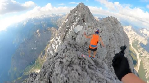 FILMMAKER FOLLOWS MOUNTAINEER AS HE HIKES THE WATZMANN CROSSING Image