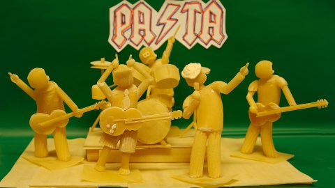 INCREDIBLE ARTWORK MADE OUT OF PASTA IS USED TO ADVERTISE RESTAURANTS DISHES Image
