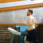 RUNNING TO SUCCESS! BRAVE MAN TRACKS EVERY TREADMILL RUN HE DOES WHILE TOPLESS ON WAY TO LOSING MORE THAN THREE STONE IN EIGHT MONTHS