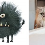 Despicable meow! Grumpy-looking cat charms internet with fangtastic look and grouchy aura
