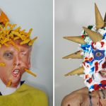 Artist Creates Bizarre Self-portrait Series By Sticking The Likes Of Food, Rubbish And Everyday Objects To His Face